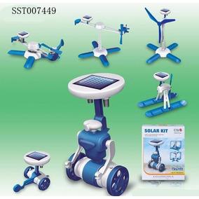 Juego Didactico Kit Solar 6 En 1 Robot Helicoptero Barco