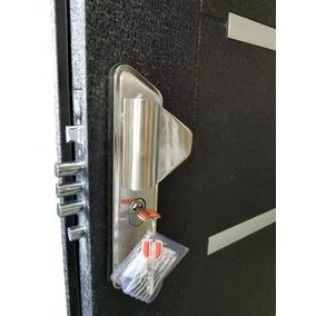 Puerta Blindada De Seguridad Multianclaje Negra Alum 80x200