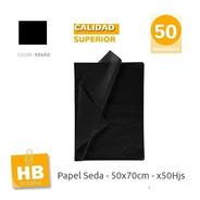 Papel Seda X 50u Negro 50 X 70 Cm