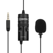Microfono Boya By M1 Pro Corbatero Con Salida De Auriculares