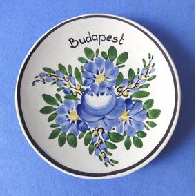 Mini Prato Budapeste Hungria - Pintado A Mão - Porcelana