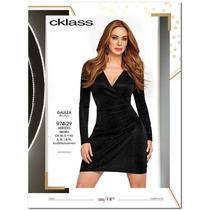 Vestido Cklass Negro Temporada Otoño Invierno 2016 Nuevo