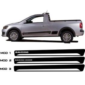 Kit Adesivo Faixa Lateral Vw Saveiro Mod14