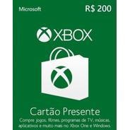 Xbox Microsoft R$ 200 Reais Código Digital Brasil