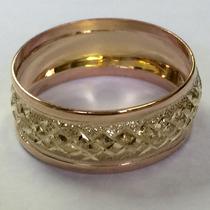 Ngold Aliança Abaulado Com Vermelho Diamantado Ouro 18 K 750