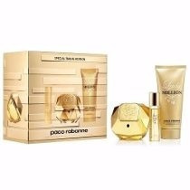 Kit Lady Million Edp 80ml +hidratante 100ml + 10ml Miniatur