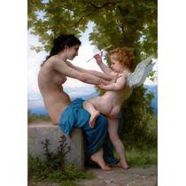 Lienzo Tela Joven Contra Eros William Bouguereau 100 X 50 Cm