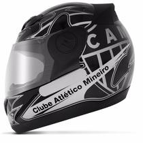 Capacete De Time Atletico Mineiro Moto Pro Tork 3g Oficial