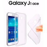 Capinha Capa Case Silicone Galaxy J1 Ace + Pelicula Vidro