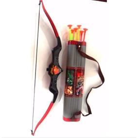 Brinquedo Arco E Flecha Infantil Com Porta 06 Flechas