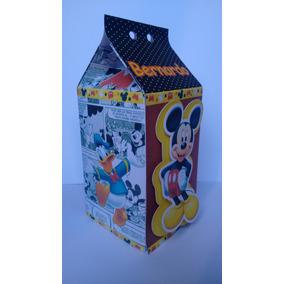 Caixa Milk 3d Lembrancinhas Mickey Aniversário