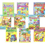 3 Libros Colorear Iluminar Jumbo Paquete Preescolar Surtido