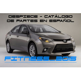 Manual Despiece Catalogo Toyota Corolla 2013 - 2017 Español