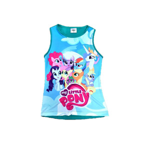 My Little Pony Poney Blusinha T-shirt Regata Infantil