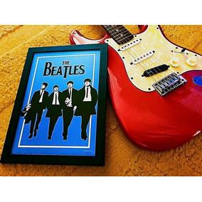 Poster Da Banda The Beatles Tamanho A3 Com Moldura