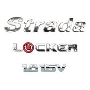 Kit Emblemas Nome Strada Adventure Locker 1.8 16v Cromados