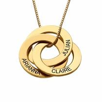 Colar Banhado A Ouro Feminino Com Nomes Personalizados