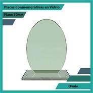 Placa De Vidrio Referencia Ovalo Pulido Plano 10mm