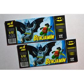 Invitaciones / Tarjetas Cumpleaños - Batman / Lego / Comic