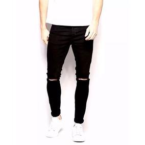 Calca-jeans-premium-masculina-rasgada-skinny-lycra-promoção