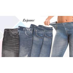 Calça Modeladora Lejeans - 4un (1preta + 1vintage + 2 Azul)