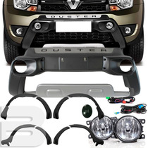 Kit Duster 2016 Bumper Alargador Kit Farol Milha Tg Poli