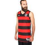 Camiseta Regata Flamengo Basquete 2016 Rubro Negra