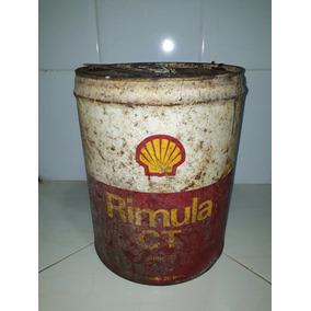 Lata Antiga De Óleo Shell Rimula Ct 20 Litros