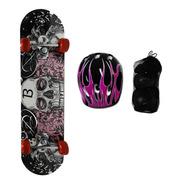 Skate Con Set De Protección En Bolso Yx-0205s