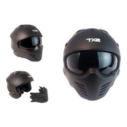 Casco Tech X-2 Cafe Racer Certificado Dot Modular