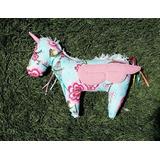 Unicornio Muñeco De Tela Con Cintas Floreado *madremia*