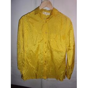 Camisa Amarilla De Satén Para Dama , Talle L