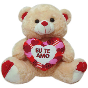 15a00c3c8d Urso De Pelucia Escrito Te Amo - Brinquedos e Hobbies no Mercado ...