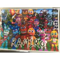 Lamina + Banderin + Piñata Five Nights At Freddy Cotillon
