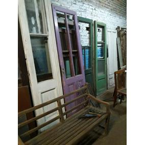 Puertas Viejas Y Antiguas Con Vidrio Madera