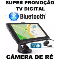 Gps Foston Tela 4.3 Tv Digital Bluetooth Câmera De Ré Radar