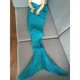 Feeshow Handcrafted Crochet Tejido Mermaid Tail Sofá Cocoon