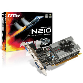 Placa Video Geforce Msi G210 1gb Ddr3 Hdmi Vga Dvi Envio