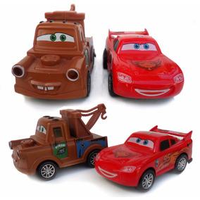 Mcqueen + Mate Disney Miniatura De Ferro 2x Carrinho Fricção