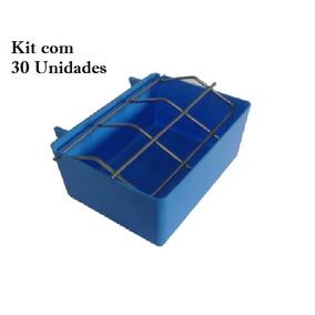 Kit Com 30 Comedouro Grade Agapornis Calopsitas Passaros