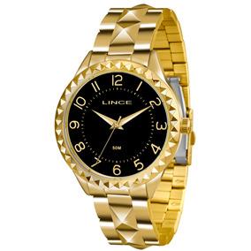 Relógio Lince Feminino Dourado Lrg4380l P2kx Original + Nf