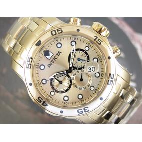 Relógio Invicta Pro Diver Cronografo Plaque Ouro 0074