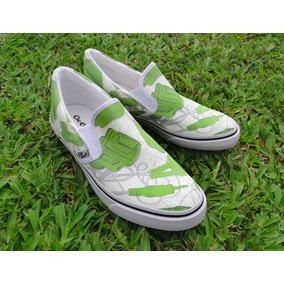 Promoção Tênis Sneaker Sapatênis Cabos Hdmi Usb Verde Geek