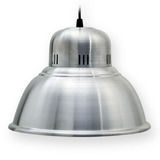 Lampara Colgante Campana Aluminio Galponera 38cm Diametro