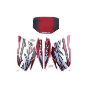 Kit Jogo Adesivo Faixa Xlr 125 2002 02 Es Moto Vermelha 487