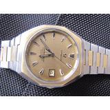 Omega Constellation Safira Aço E Ouro 18k Chronometer Quartz