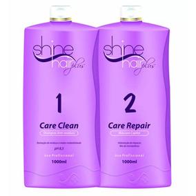 Kit Escova Progressiva Shine Hair Plus Lisos Perfeitos 2 X 1