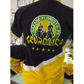 1 Kit 10 Camisas Bordada Polo De Vaquejada, Cavalgada Haras