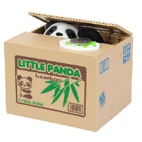 Cofrinho Pandinha Ladrão De Moedas Cofre Panda Ladrão