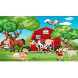 Painel Fazendinha 04 1x0,7cm Festa Infantil Decorativo Festa